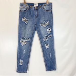 ONE TEASPOON DISTRESSED AWESOME BAGGIES SIZE 28